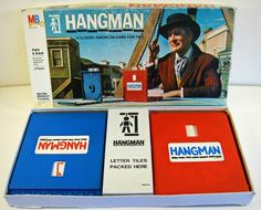 1970S Vintage Toys And Games | vintage game HANGMAN Milton Bradley 1970s by forrestinavintage
