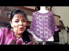 Capita lila brillante tejida en gancho fácil y rápido - tejiendo con Laura Cepeda - YouTube