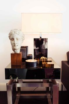 This Luxurious Milan Home Is Loaded With Style--Here's A Look Inside, Home Accessories, Toddy Selby/The Selby. Interior Desing, Interior Design Inspiration, Modern Interior, Interior And Exterior, Interior Decorating, Wc Decoration, Masculine Interior, Masculine Art, Apartment Chic
