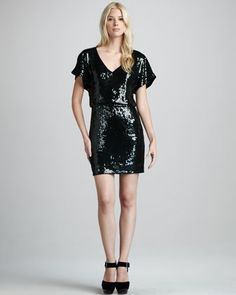 Goldfinger Blouson Dress by Trina Turk at Neiman Marcus. Made in USA $238