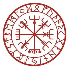 "Vegvisir- it is said ""if this sign is carried, one will never lose one's way in storms or bad weather, even when the way is not known"" and it is encirled with protection runes"