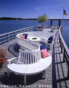 Chic deep water dock...for ypur boat by Brian Vanden Brink - Architectural Photographer