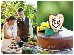 """""""A buck and his deer"""" custom cake topper ordered off of Esty.com!"""