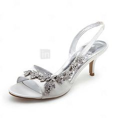 Brooch bride shoes Gorgeous in gold but maybe too open toe but like the heel, maybe I'll get it.  Haha