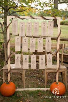 Chic Fall Wedding Table Assignments!