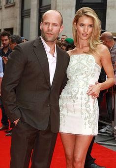 Rosie Huntington-Whiteley donned a short Emilio Pucci dress to show her love and support for her beau, Jason Statham, at his Hummingbird premiere in London's