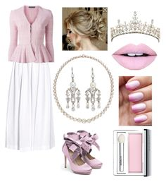 """""""Fancy Patricia"""" by fashionprincessfoeves on Polyvore featuring Rosie Assoulin, Alexander McQueen, Liam Fahy, Bailey Banks & Biddle, Fiebiger and Clinique"""