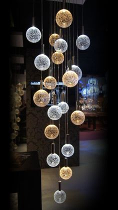 Crizzle Glass Chandeliers