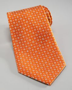 Gancini & Shapes Tie, Orange/Pink by Salvatore Ferragamo at Bergdorf Goodman.
