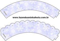 Saias Wrappers para Cupcakes Inverno com Azul Tiffany e Vinho: LARGE SET