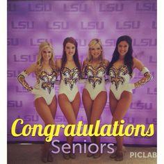 LSU 2013-14 Golden Girls seniors