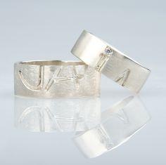 #trouwringen Napkin Rings, Bracelets, Silver, Jewelry, Jewlery, Jewerly, Schmuck, Jewels, Jewelery