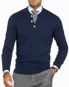 Dark Blue Henley base