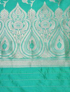 Textile Pattern Design, Textile Patterns, Print Patterns, Border Embroidery Designs, Embroidery Art, Machine Embroidery, Soft Silk Sarees, Silk Dupatta, Drawing Stencils