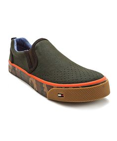 Take a look at this Olive & Brown Army Emmett Slip-On Shoe on zulily today!