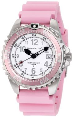 Women's Wrist Watches - Momentum Womens Twist Pink Bezel Pink Silicone Rubber Watch >>> Continue to the product at the image link. Watch Deals, Cool Watches, Wrist Watches, Women's Watches, Pink Watch, Rubber Watches, Silicone Rubber, Stainless Steel Case, Fashion Watches