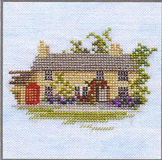 Rose Cottage by Rose Swalwell (1 of 2): Minuets Series, Derwentwater Designs | Gallery.ru | миниатюры | frango