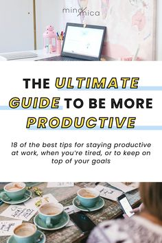 18 Tips to Stay Productive at Work Business Motivation, Business Tips, Habits Of Successful People, Productive Day, Productivity Hacks, Dealing With Stress, Pre Writing, Marketing Automation, Time Management Tips