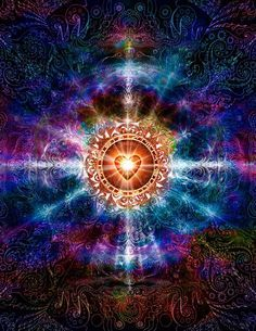 Strengthen, rebuild and protect your aura for a deeper spiritual connection through Christa spiritual energy healing, meditation, and healing touch. Image Deco, Psy Art, Jolie Photo, Art Graphique, Visionary Art, Flower Of Life, Psychedelic Art, Sacred Heart, Fractal Art