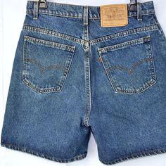 22eacbea323c5 Levis 951 Womens Vtg Denim Jean Shorts 12 Reg 30in Waist USA Orange Tab  Zipper