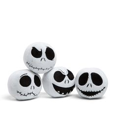 Disney Jack Skellington Built In Squeak Pet Toy 4 Pack