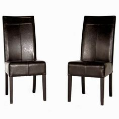 Dark Brown Leather Dining Chair with Stitching Restaurant Furniture