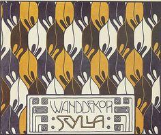 """Pattern design by Koloman Moser(1868-1918), 1901, """"Flächenschmuck, Die Quelle,"""" Vienna. #tapestrie #wallpaper #fabric"""