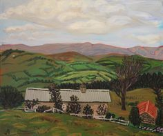 Joseph M Dunn, Kelly House, Farm and view on ArtStack #joseph-m-dunn #art