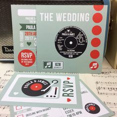 Wedding/ Party Invitations  Vinyl Record Design x 40