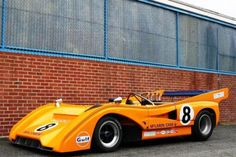 1973 McLaren M8FP #classic #car #McLaren #racecar This particular chassis is one of five McLaren Can-Am cars owned and raced in period by the Commander Motor Homes Racing team. Two of the five cars were factory M8Fs which Peter Revson and Denny Hulme had driven to an easy one-two finish in the 1971 Can-Am championship before selling both onward to Gregg Young of the Young American Racing Team.