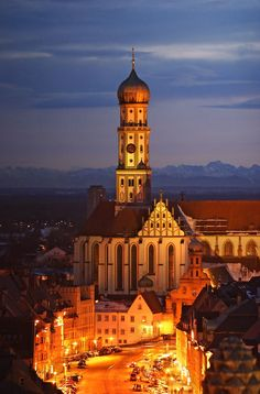 Town Square & Basilica of Saints Ulrich & Afra in Augsburg ~ Bavaria, Germany Visit Germany, Germany Travel, Augsburg Germany, Bavaria Germany, Places To Travel, Places To Visit, Beautiful Places In The World, Central Europe, Place Of Worship