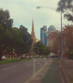 View of Melbourne City from East Melbourne