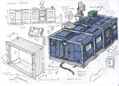 habitable module by TugoDoomER.deviantart.com on @DeviantArt Structural Model, Game Concept, Sci Fi Art, Environment Concept Art, Environment Design, Art Sketches, Sci Fi News, Game Props, Art Pictures