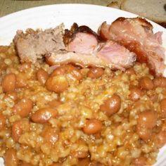 gersli receptek, cikkek   Mindmegette.hu Jewish Recipes, Goulash, One Pot Meals, Chana Masala, Chili, Stew, Beans, Food And Drink, Cooking Recipes