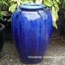 Blue Glazed Temple Jar Pot with Handles