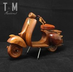 Vespa Wood Design, Vespa, Wooden Toys, Motorcycle, Sculpture, Metal, Car, Wasp, Wooden Toy Plans