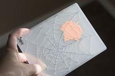 Leaf veins using spider web folder