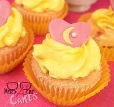 .sailor moon-inspired cupcakes