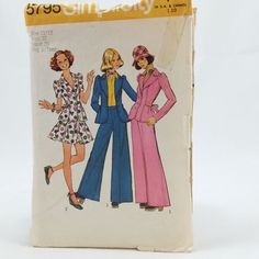 Simplicity 5795 Junior Teen Unlined Jacket Skirt Pants Sz 11 12 Vintage Pattern  #Simplicity