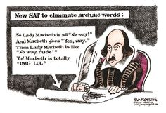 Jimmy Margulies - Politicalcartoons.com -  New SAT, SAT, Scholastic Aptitude Test, College Board, standardized testing, ACT, college admissions, education, higher education, secondary education, Test prep, Test prep industry