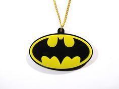 laser cut acrylic superhero necklace - Google Search