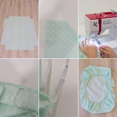 How to Sew Mini Crib Sheets – It's hard to find cute mini sheets, so I will make them for baby boy! Mini Crib Bedding, Baby Crib Sheets, Diy Crib, Baby Cribs, Baby Duvet, Crib Sheet Tutorial, Crib Sheet Pattern, Baby Sewing Projects, Ideas