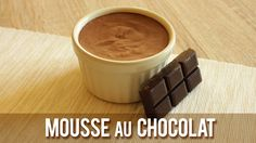 MOUSSE AU CHOCOLAT |  Sans Oeuf, ni Lait, ni Soja    ( Vegan ) Vegan Vegetarian, Vegetarian Recipes, Healthy Recipes, Bon Dessert, Vegan Protein, Vegan Baking, Homemade, Tableware, Sweet