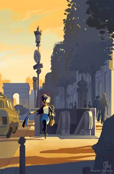 Part 4 of Paris landscapes mixed with fanart. Based on this fantastic drabble my friend wrote, called 'TGIF' ! Go read for 1300 words of pure fluff and weekend joy.