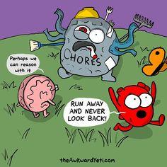 Funny! The Awkward Yeti comics