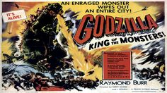 A monster b movie posters image showing GODZILLA landscape. Description from ayay.co.uk. I searched for this on bing.com/images