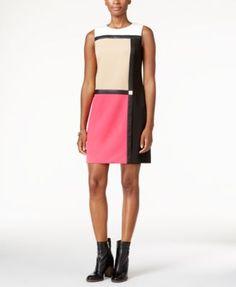 Tommy Hilfiger Colorblocked Shift Dress   macys.com