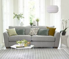 Meet the Sophia This exciting new addition to the House Beautiful DFS sofa collection combines sophisticated style with ultimate comfort. Elegant Living Room, New Living Room, Small Living Rooms, Living Room Modern, Living Room Sofa, Living Room Designs, Interior Rugs, Interior Design Tips, Luxury Interior