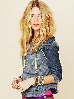 NEED this hoodie. (and her hair!)