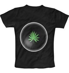 weed in white circle  T-Shirt